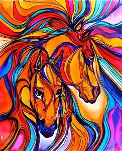 Glass, Painting, Of, Horse, U2013, Creative, Art