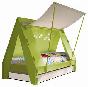 Kids Tent Bedroom Cabin Bed in Green