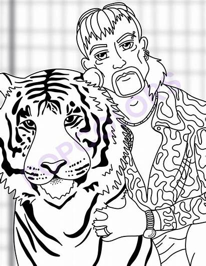 Tiger Coloring Pages King Pack Exotic Joe