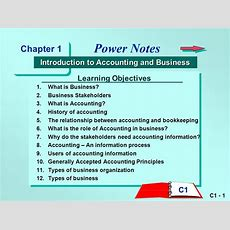 Power Notes Chapter 1 Introduction To Accounting And Business  Ppt Video Online Download