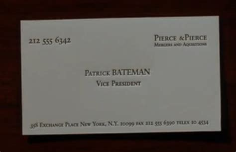 mary harron american psycho business card scene genius
