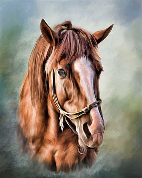 horse paintings painting head portrait chestnut painted portraits custom pet striking never seen portait running formal source