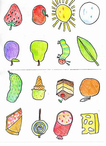 Hungry Caterpillar Very Clipart Printables Foods Sequencing