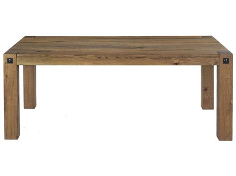 table rectangulaire de cuisine table rectangulaire 200 cm louis coloris chêne antique