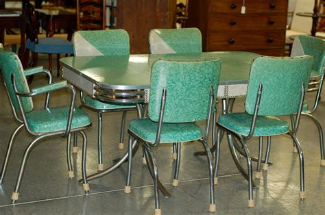 chrome vintage  formica kitchen table  chairs