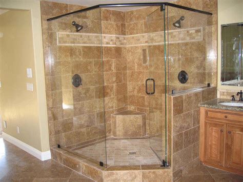 bathrooms with corner showers corner shower units