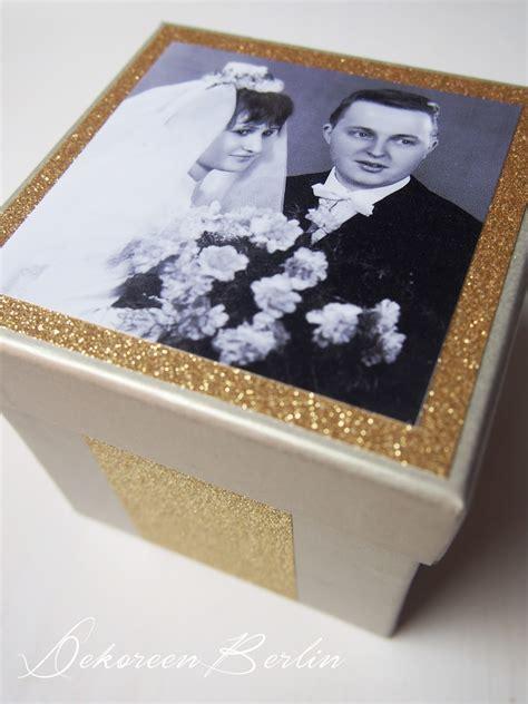 bastelideen goldene hochzeit dekoreenberlin geschenke zur goldenen hochzeit