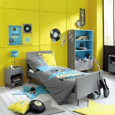 chambre et gris ado deco chambre ado gris et jaune visuel 7