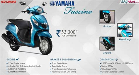 yamaha fascino drum price india specifications reviews sagmart