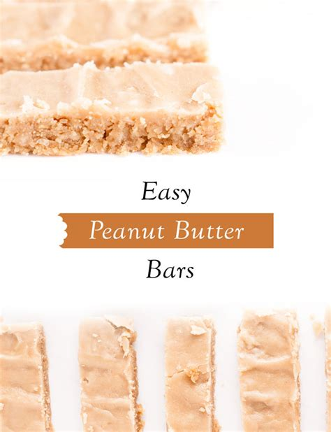easy to make with peanut butter easy peanut butter bars make them today