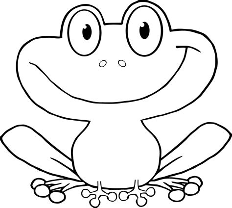 Cute Cartoon Frog Coloring Pages