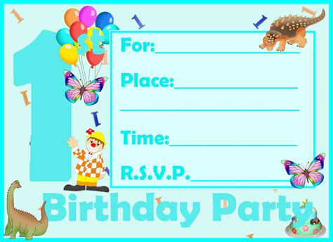 a birthday invitation find your printable 1st birthday invitation here