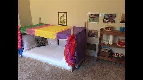 24703 toddler floor bed montesori baby toddler bedroom diy canopy floor bed