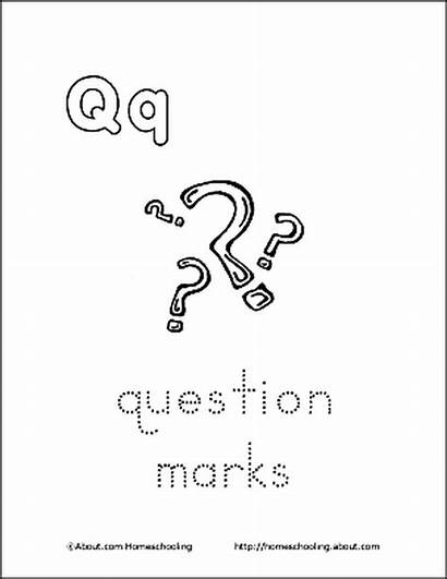 Coloring Question Mark Pages Printable Letter Marks