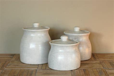 vintage white ceramic canisters set    bonnbonn  etsy