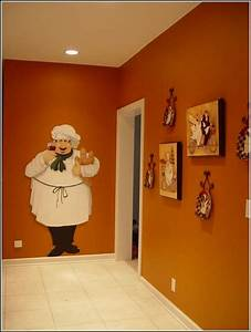 Chef themed kitchen decor kitchen and decor for Kitchen colors with white cabinets with fat chef wall art
