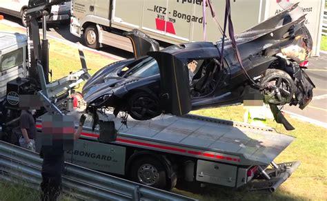 koenigsegg nurburgring koenigsegg one 1 crashes during nurburgring lap record