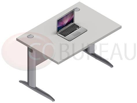 bureau pro bureau avec plateau droit pro métal 140 cm pieds en l