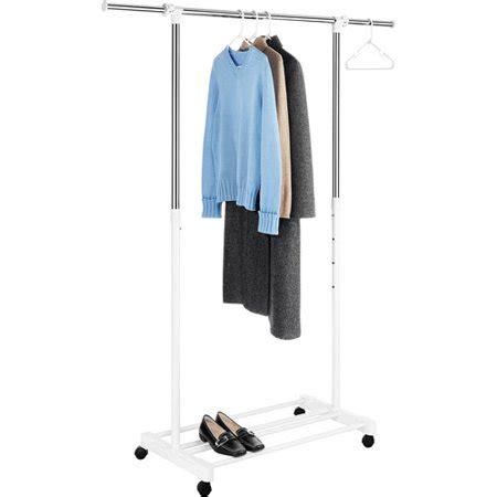 walmart clothing rack whitmor deluxe adjustable garment rack chrome white