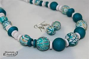 Handmade polymer clay jewelry sets (2)