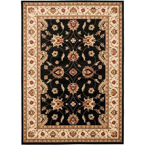 area rugs black safavieh lyndhurst black ivory 7 ft x 10 ft area rug 1335