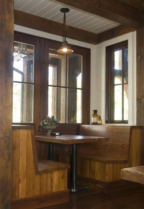 Kitchen Booth Design by Rustic Lakehouse Kitchen Booth Designs Cabin