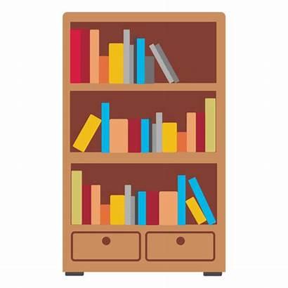 Bookshelf Transparent Clipart Icon Wooden Svg Vector
