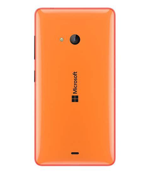 microsoft lumia 540 original back panel orange plain