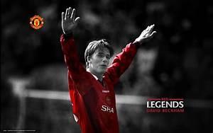 pobra tapety David Beckham, MU, Manchester United, pikarz ...