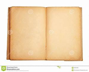Old Open Book With Blank Pages Stock Image - Image: 20594495
