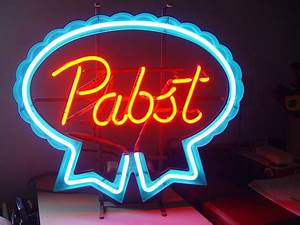 Pabst neon sign I believe it is an older model