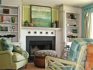 decorating ideas for fireplace mantels and walls diy With best brand of paint for kitchen cabinets with metal wall art above fireplace