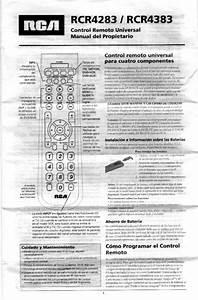 Rca Universal Remote Rcr4283 User Guide