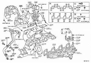 Toyota Truck Engine Intake Manifold Gasket  Exhaust