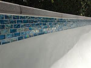 swimming pool waterline tile backyard design ideas