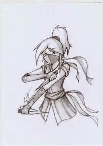 Anime Ninja Girl Drawings