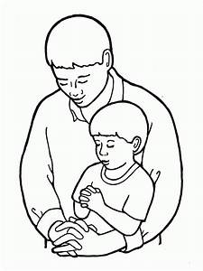 Dad And Son Coloring Page - Coloring Home