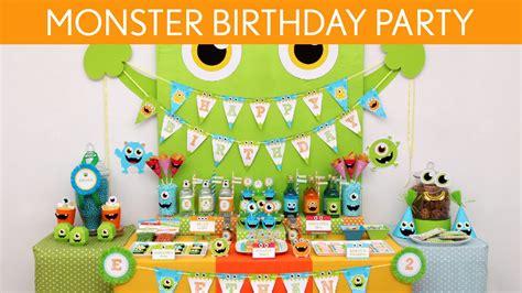 monster birthday party ideas  monster