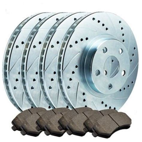4 Slotted And Or Drilled Rotors With Brake Pads Dodge Ram
