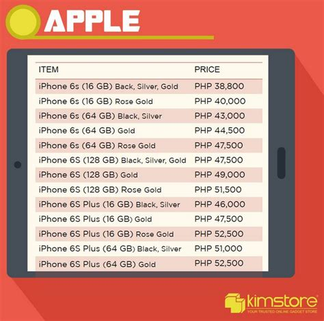 iphone 6s price philippines apple iphone 6s and 6s plus kimstore prices revealed now