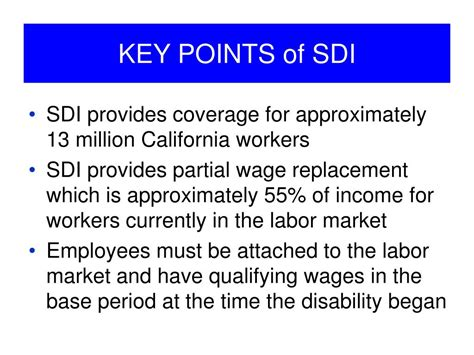If you can't work because you are sick or injured, disability insurance will pay part of your federal, state, and local government agencies and programs can help with your health needs if you have a disability. PPT - California State Disability Insurance: Disability Insurance and Paid Family Leave ...