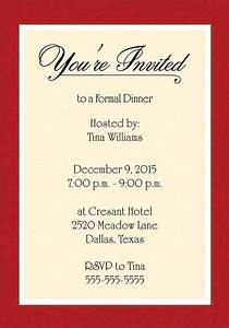 Dinner Invitation Template Word - Templates : Resume ...