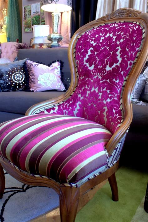 custom upholstered chair vintage chair by