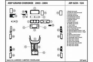 2004 Jeep Grand Cherokee Dash Kits