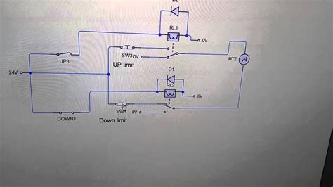 Hoist Limit Switch Wiring Diagram Gear by Reversing Motor Circuit With Limit Switches