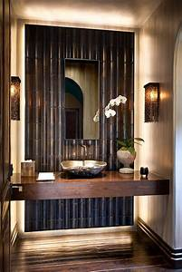 Hot summer trend 25 dashing powder rooms with tropical flair for Bamboo in the bathroom