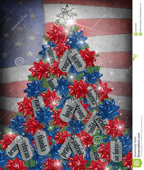 military christmas tree stock illustration image of tribute 34945883