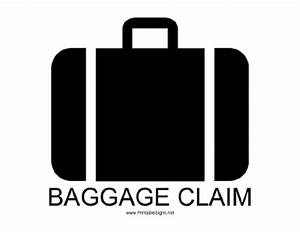 Printable Baggage Claim with caption Sign