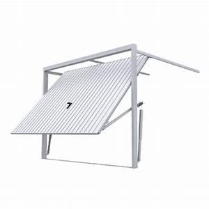 Porte de garage basculante a rainures verticales porte for Ressort de porte de garage basculante