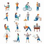 Physical Activity Icons Vector Clipart Vectors Graphics